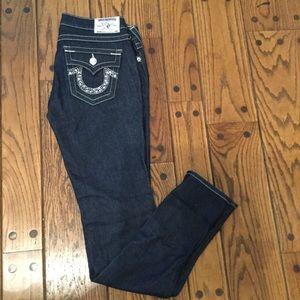 True Religion Rhinestone Dark Wash Jeans -NWOT
